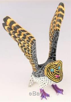 Oaxacan Sculpture Sur Bois Eleazar Morales Hibou Des Oiseaux Oaxaca Art Populaire Mexicain Alebrije