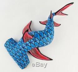 Oaxacan Sculpture Sur Bois Eleazar Morales Oaxaca Hammerhead Shark Art Populaire Mexicain