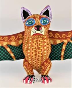 Oaxacan Sculpture Sur Bois Lauro Ramirez Bat Oaxaca Folk Art Mexicain Alebrije Mexique