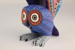 Oaxacan Sculpture Sur Bois Lauro Ramirez Owl Oiseaux Oaxaca Art Populaire Mexicain Alebrije