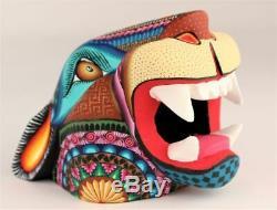 Oaxacan Sculpture Sur Bois Magaly Fuentes Jaguar Head Oaxaca Art Populaire Mexicain Alebrije