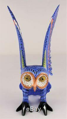 Oaxacan Sculpture Sur Bois Mario Castellanos Owl Oiseaux Oaxaca Mexique Folk Art Alebrije