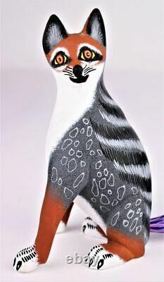 Oaxacan Wood Carving Eleazar Morales Coyote Fox Mexicain Folk Art Alebrije Mexique