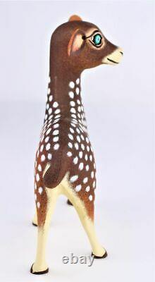 Oaxacan Wood Carving Eleazar Morales Deer Oaxaca Mexican Folk Art Alebrije