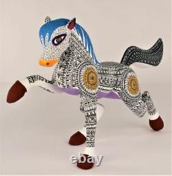 Oaxacan Wood Carving Lauro Ramirez Horse Oaxaca Mexican Folk Art Alebrije Mexique