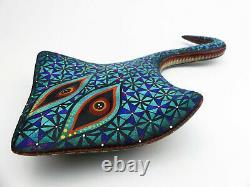 Oaxacan Wood Carving, Manta Ray Alebrije, Mexican Folk Art, Oaxaca Mexique