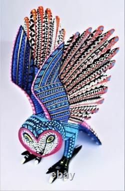 Oaxacan Wood Carving Reina Ramirez Grand Hibou Oaxaca Mexican Folk Art Alebrije