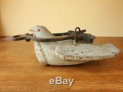 Oiseau Antique Français Commerce Boutique Blacksmith Sign. Art Dove Pigeon Folk Sculpté Hand
