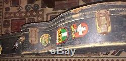 Old Harmony Sovereign Art Populaire Pegasus Sculpté Top Guitar Beat Lifton Case