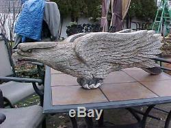 Original Art 1800 Folk Schooner Ship Eagle A Carved Figure De Proue Beauty