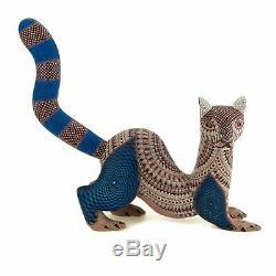 Otter Oaxacan Alebrije Sculpture Sur Bois D'art Populaire Mexicain Handcrafted Nestor Melchor