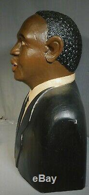 Outsider Vintage Folk Art Sculpture Sur Bois Sculpture Paul Weir Martin Luther King Jr