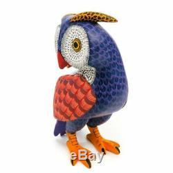 Owl Oaxacan Alebrije Sculpture Sur Bois Art Populaire Mexicain Peinture Sculpture