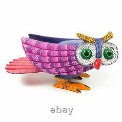 Owl Oaxacan Alebrije Sculpture Sur Bois Art Populaire Mexicain Peinture Sculpture Animalière