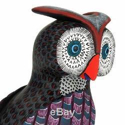 Owl Oaxacan Alebrije Sculpture Sur Bois Handcrafted Art Populaire Mexicain Sculpture