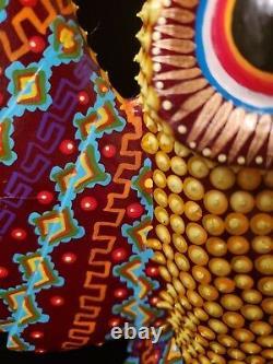 Owl (buho) Alebrije Oaxaca Wood Carving Folk Art Par Sergio Santiago, Texturé