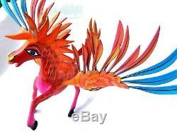 Pegasus Alebrije Grande Sculpté À La Main Oaxacan Folk Art Oaxaca Mexique