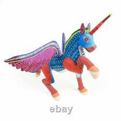 Pegasus Horse Oaxacan Alebrije Sculpture D'art Populaire Mexicain