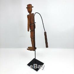 Poupée Danse Antique Art Carved Folk En Bois Articulé Figure