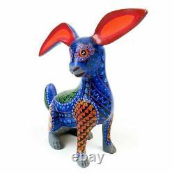 Rabbit Oaxacan Alebrije Animal Wood Carving Mexican Folk Art Sculpture