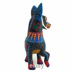 Raccoon Oaxaca Alebrije Sculpture D'art Populaire Mexicain Fabriquée À La Main