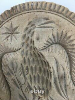 Rare Antique Carved Wood Eagle Butter Mold Stamp Primitive Folk Art Buy It Now