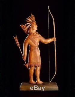 Sculpture D'art Populaire De Girouette Indien Par K. William Kautz