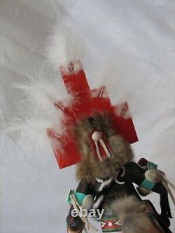Signé Main Sculpté Hopi Hemis Kachina Doll Native American Folk Art