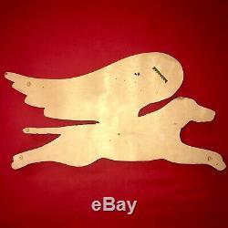Stephen Huneck Originale Dog Angel Signé 1994 Folk Art Early Carved Bois Peint