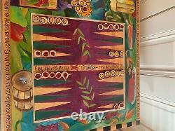 Sticks Urban Game Table Et Tabourets D'art Populaire Échecs, Checkers, Backgammon