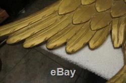 Très Antique Old New England Folk Art Sculpté À La Main En Bois American Eagle
