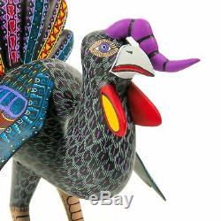 Turquie Oaxacan Alebrije Sculpture Sur Bois Fine Art Populaire Mexicain Sculpture