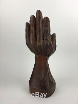 Vintage Bois Sculpté Art Populaire Détaillée Milieu Du Siècle Moderniste Sculpture Art Main