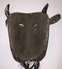 Vintage, Masque De Cérémonie Mexicain, Le Diable, Sculpté À La Main, Art Populaire, Festival