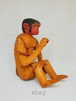 Vintage Mexican Folk Art Alebrije Nahual Monkey Sculpture Sur Bois Mexique Oaxaca