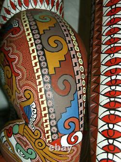 Vintage Oaxacan Wood Carving Fox Par 1st Wave Master Carver Bertha Cruz