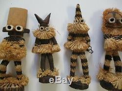 Vintage Wood Carvings Art Populaire Africain Masque Afrique Tribal Sculpture Visage Poupée