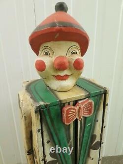 Vintic Cirnaval Carnival Folk Art Main Sculpté Cabinet Tall Cabinet