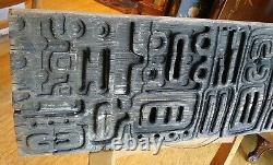 Vtg Main Bois Sculpté Tiki Totem Panneau Folk Art 36×11 Patine Primitive Witco