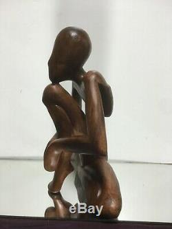 Vtg. Main En Bois Sculpté Résumé Folk Art Milieu Du Siècle Moderne Sculpture