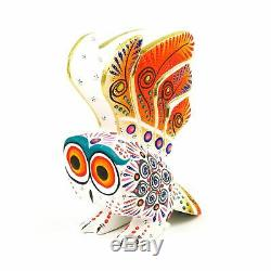 White Owl Oaxacan Alebrije Sculpture Sur Bois Art Populaire Mexicain Sculpture